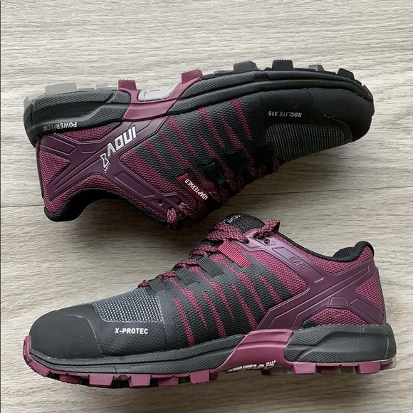 Inov8 Womens Roclite 315 Trail Running Shoes Trainers Sneakers Black Purple